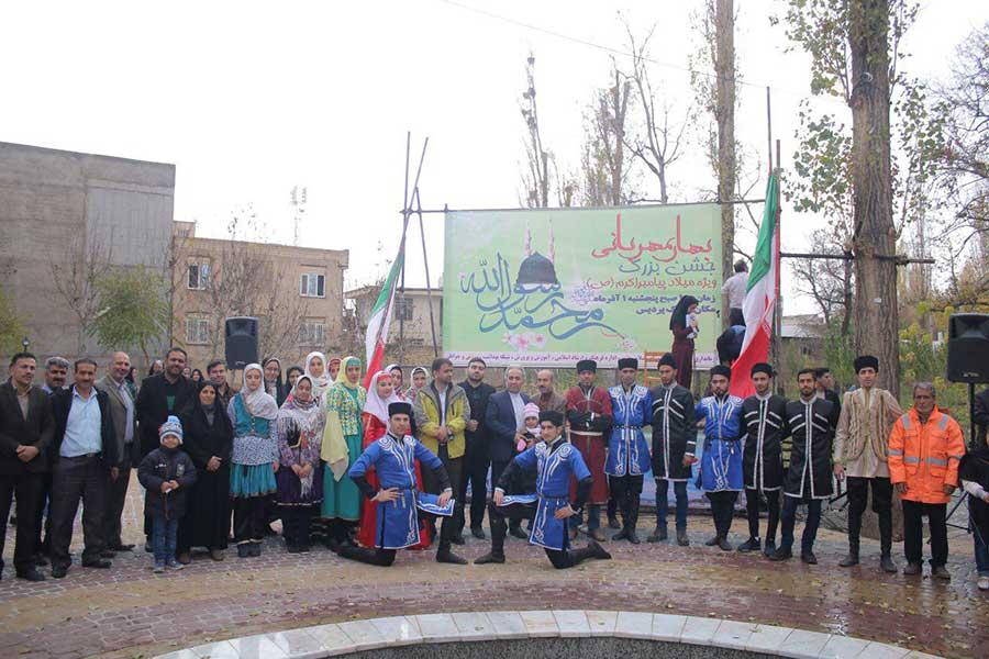 برگزاری جشن بهار مهربانی شهرستان ابهر به مناسبت هفته وحدت ومیلاد پیامبر اعظم