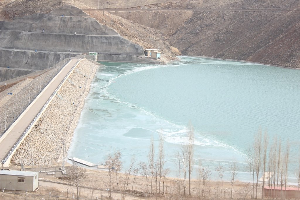 ۹۷درصد ظرفیت سد کینه ورس آبگیری شد